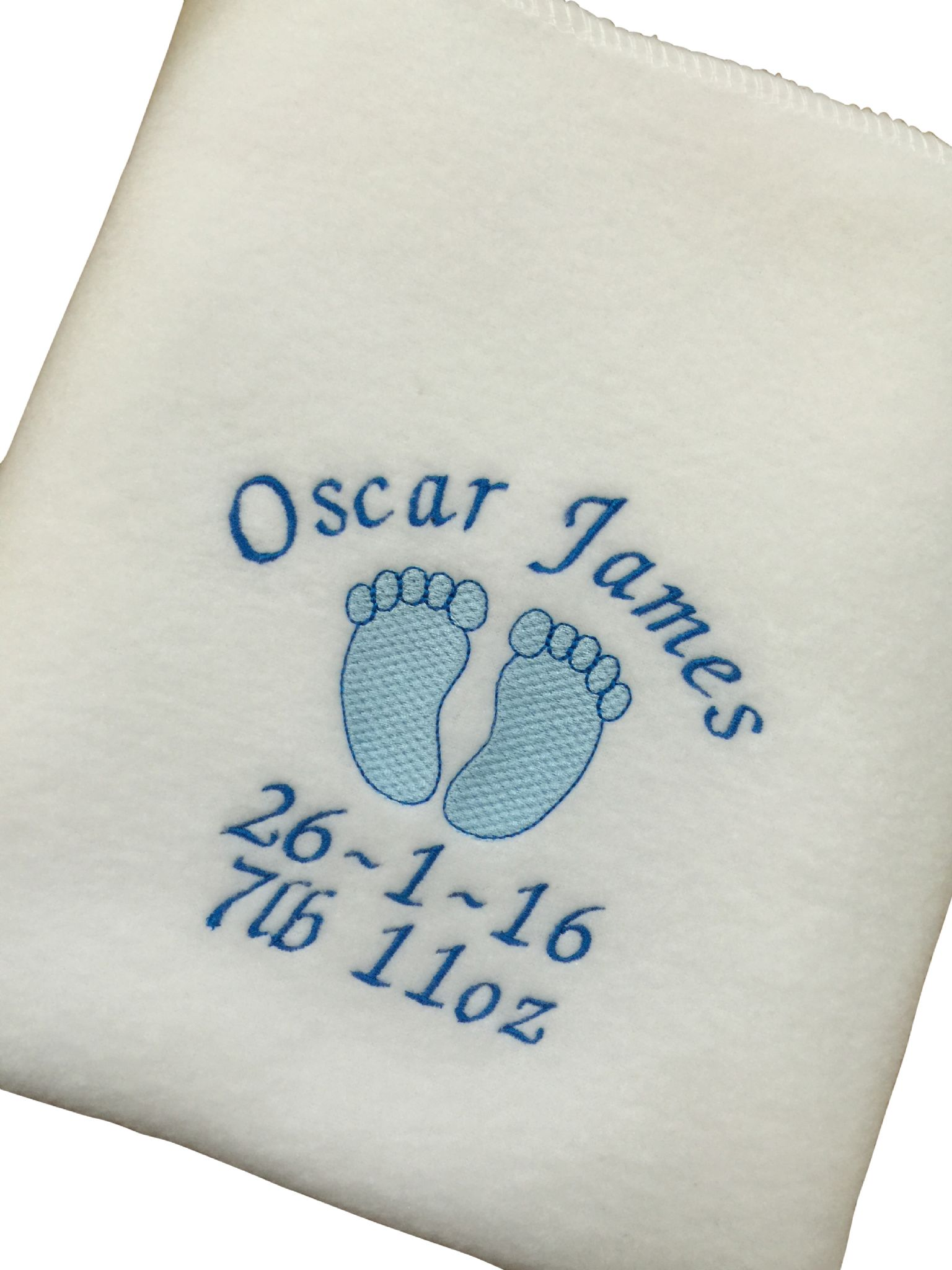 Personalised baby blanket baby feet design pink or blue negle Image collections