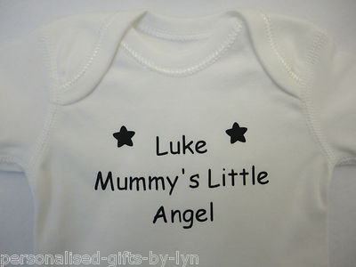PERSONALISED BABY VEST - BODYSUIT - BABYGROW ANY MESSAGE CAN BE ADDED