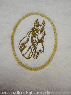 Personalised Horse design hand towel