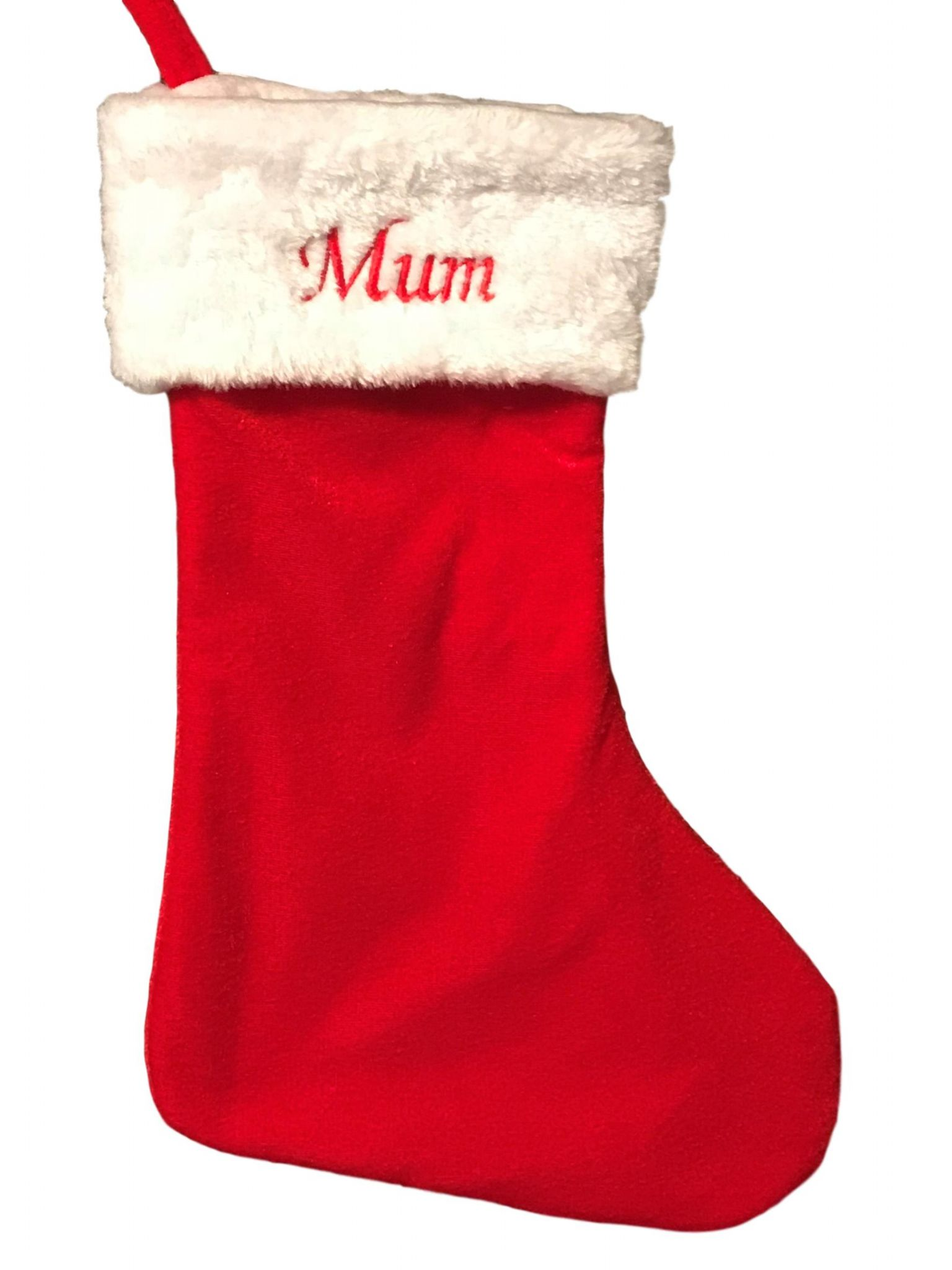 Luxury Christmas Stockings Uk.Personalised Luxury Velvet Christmas Stocking
