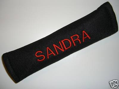 PERSONALISED SEAT BELT COVER, SEAT BELT PAD